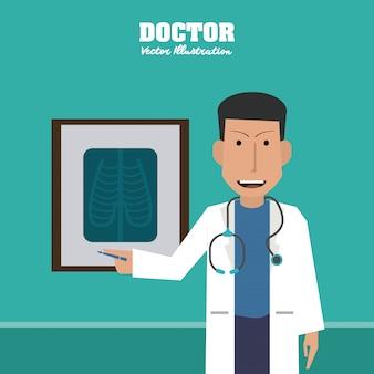 医師、医療、ヘルスケアのコンセプト