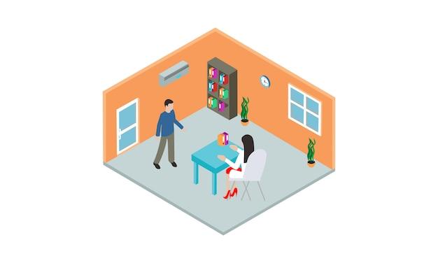 Doctor medical check up for healthcare illustration