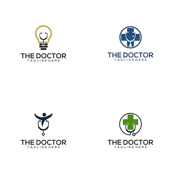 Doctor medical logo collection