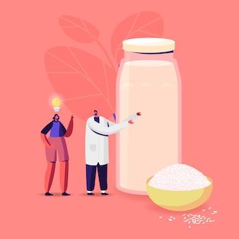 患者キャラクターへの医師の申し出米で作られた乳製品を含まない代用乳飲料