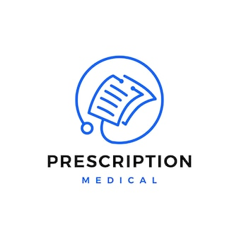 Доктор бумажный медицинский рецепт медицины логотип вектор значок иллюстрации