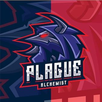 Doctor plague mascot esport logo template
