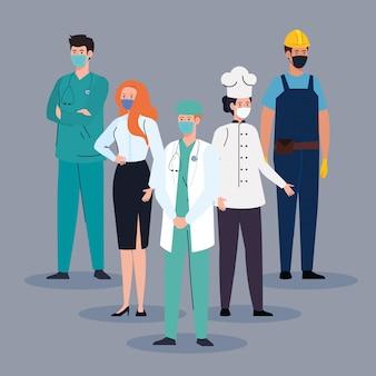 Доктор с помощью маски во время