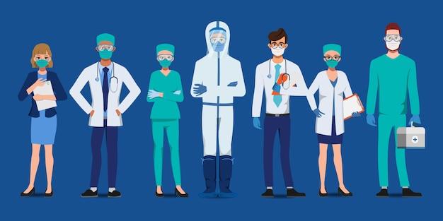 Доктор, который спасает пациентов от вспышки коронавируса. борьба с концепцией covid-19.