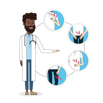 Doctor with illness symptom diagnosis prevention