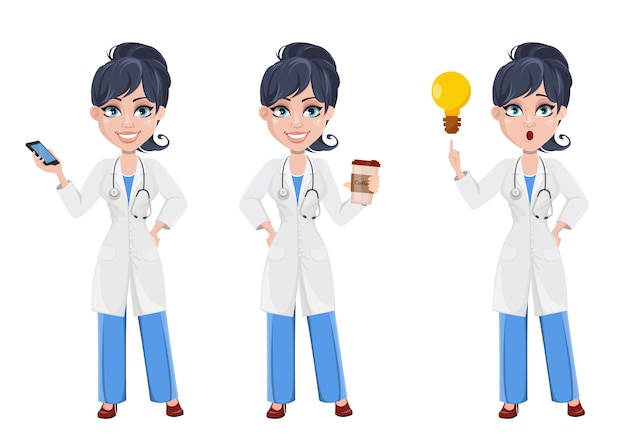 Doctor woman, professional medical staff