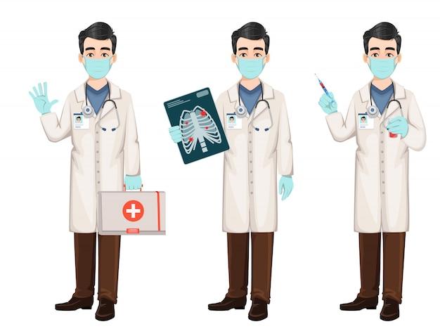 Доктор работает во время вспышки коронавируса