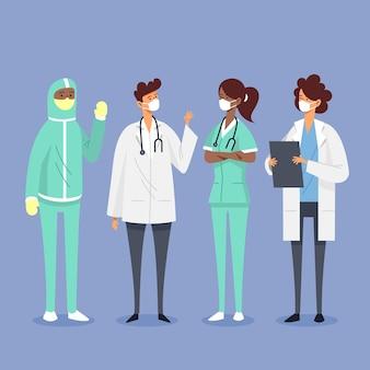 Иллюстрация врачей и медсестер