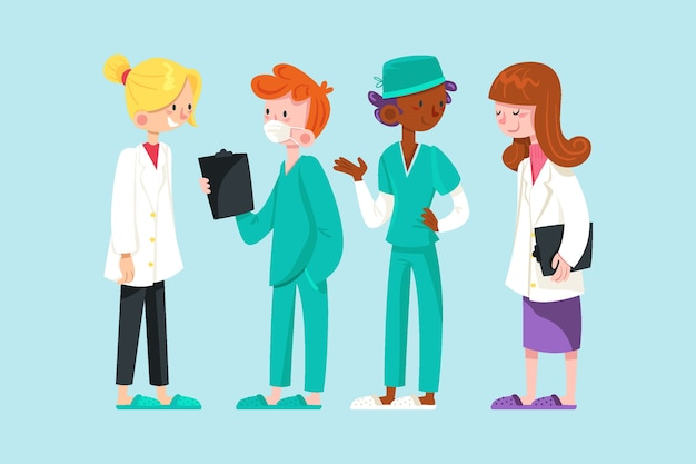一緒に働く医師と看護師