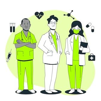 Иллюстрация концепции врачей