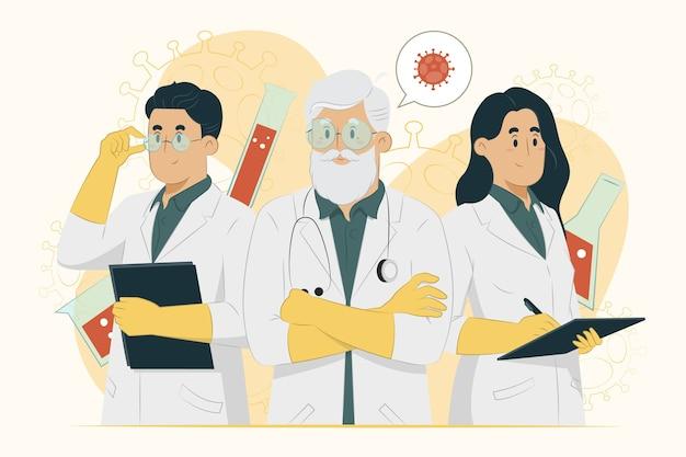 医師コンセプトワクチン開発チームイラスト
