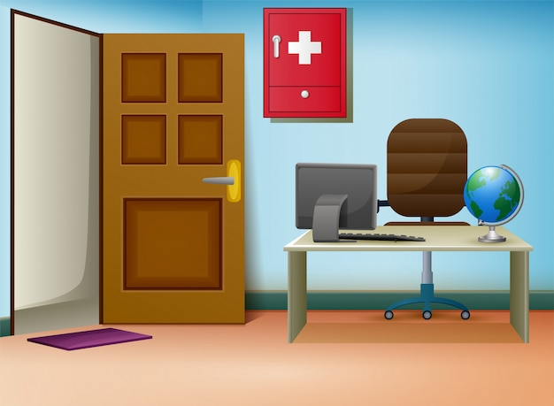 Doctors consultation room interior in clinic