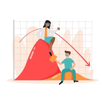 Doctors flattening the curve chart