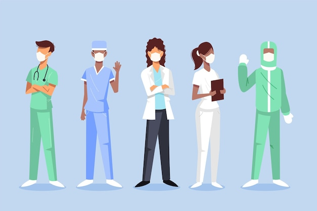 Doctors and nurses illustration