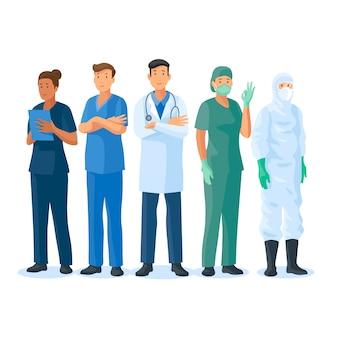 Doctors and nurses team
