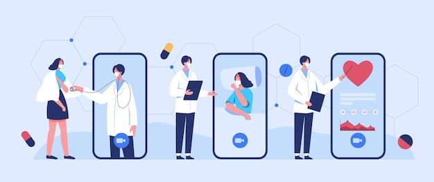 医師は、ビデオ通話を使用して、コロナウイルスの発生時に患者にオンラインアドバイスを提供します。