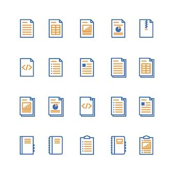 Значок контура документа и ноутбука