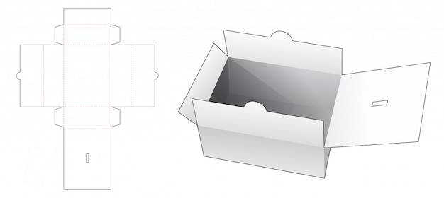 Document box die cut template