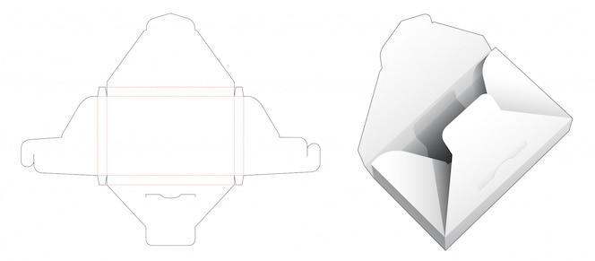 플랩 상단 다이 컷 템플릿이있는 문서 상자