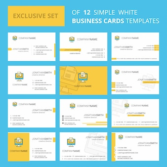 Document downloading   busienss card template. editable creative logo and visiting card