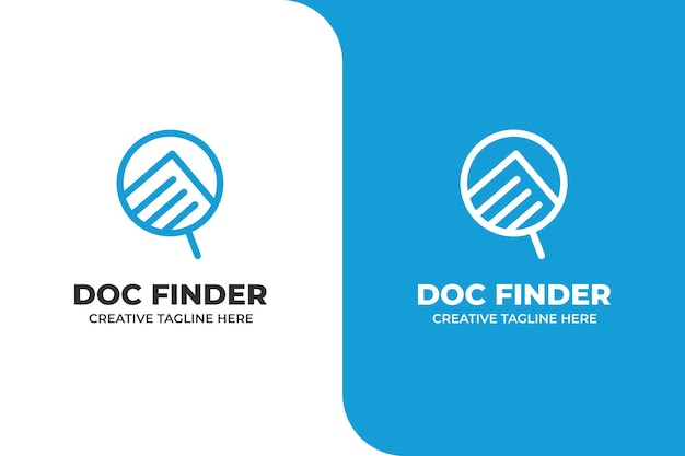Document file finder search logo