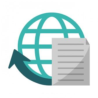 Document global sphere symbol
