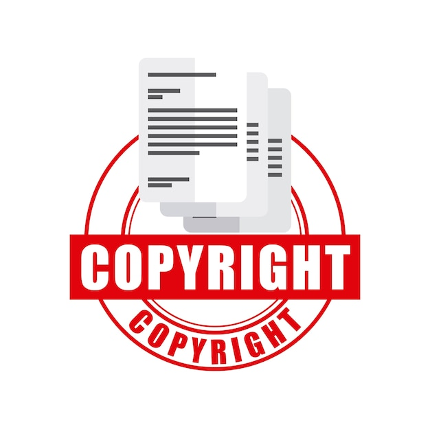 Document icon. copyright design. vector graphic