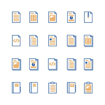 Document and notebook outline icon