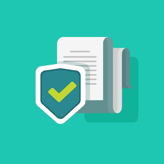 Document protection or security information vector illustration