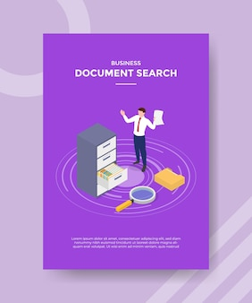 Document search concept for template banner and flyer