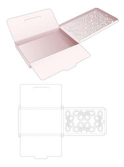 Жестяная коробка для документов со скрытым трафаретным высеченным шаблоном мандалы