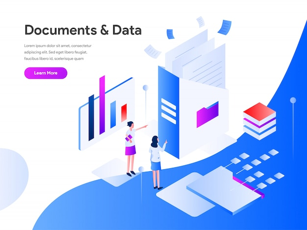 Documents and data isometric