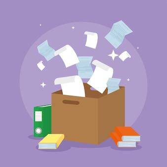Документы, летающие в ящике, оформление документов