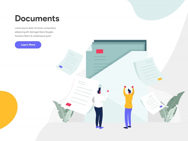 Documents illustration concept