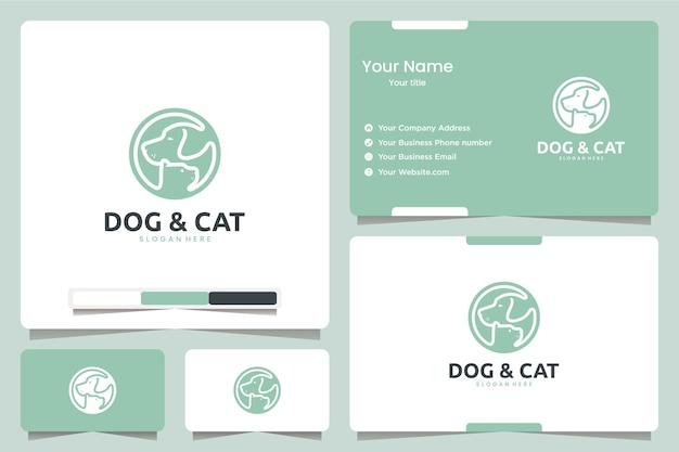 Собака и кошка, вдохновение для дизайна логотипа