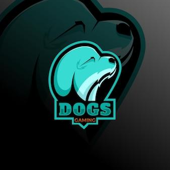 개 동물 마스코트 로고 esport 로고 팀 스톡 이미지