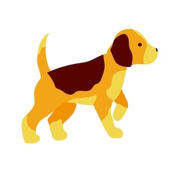 犬ビーグル子犬狩猟犬株式ベクトルイラスト白い背景で隔離