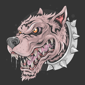 Dog beast head punk rider