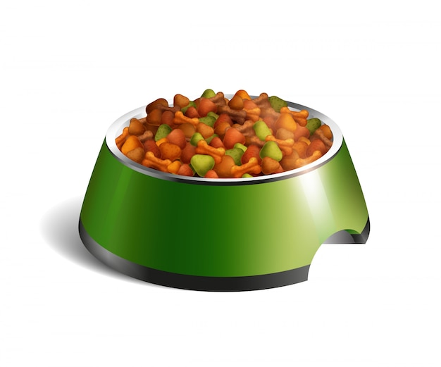 Dog bowl dry food composition