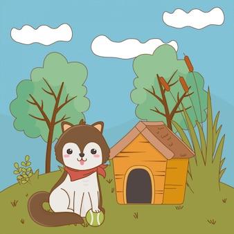 Dog cartoon clip-art illustration