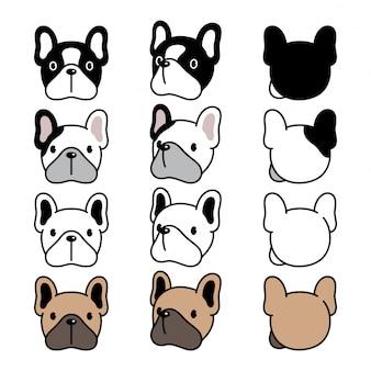 Собака мультфильм французский бульдог лицо персонажа