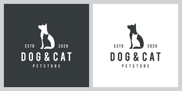 Dog and cat logo design inspiration