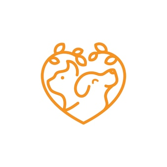 Dog cat logo template veterinary