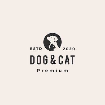Dog cat pet  vintage logo