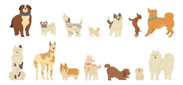 Dog character cute cartoon collection