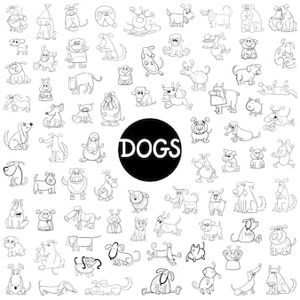 Dog characters big set
