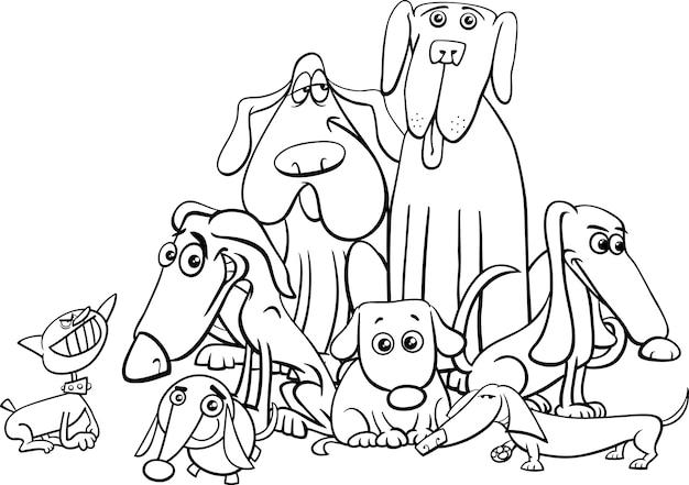 Раскраска персонажей собак
