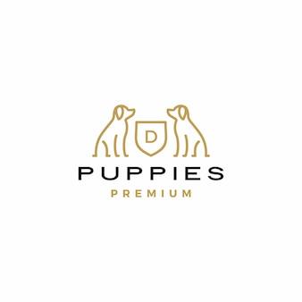 Dog coat of arms logo