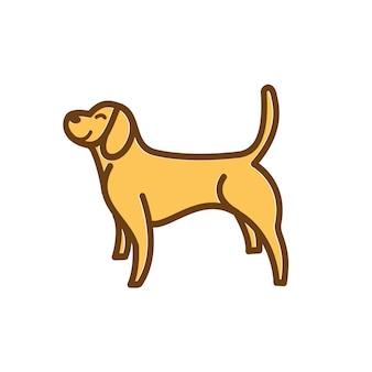 犬のかわいいイラストキャラクター