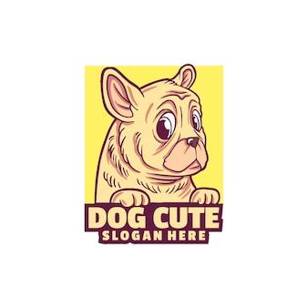 Собака милый логотип